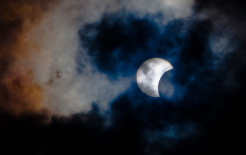 SPAIN-ASTRONOMY-ECLIPSE-SUN